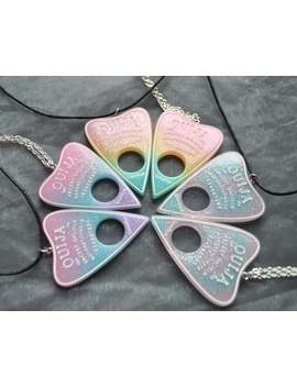 Pastel Ombre Ouija Pendant Necklace // Ouija Necklace // Ouija Planchette // Goth // Occult // Alternative // Gothic by Etsy