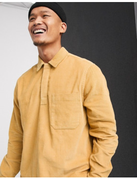 Asos Design Rugby Style Ovehead Cord Shirt In Mustard by Asos Design