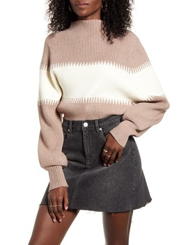 Contrast Funnel Neck Sweater by 4 Si3 Nna
