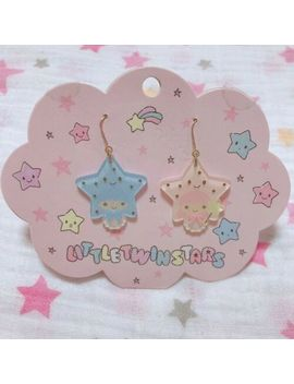 Sanrio Little Twin Stars Pierced Earring Star Design Series Kiki And Lala Japan by Sanrio