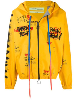 Graffiti Motifs Hooded Jacket by Off White