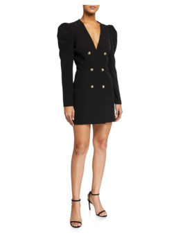 Britt Puff Sleeve Blazer Mini Dress by Bardot