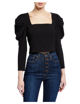 Rach Puff Sleeve Top by Alice + Olivia