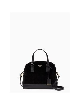 Kate Spade New York Cameron Street Velvet Lottie Handbag In Black by Kate Spade New York