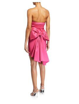 Merino Strapless Cocktail Dress With Bow by Likely
