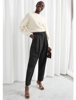 Tailored Wool Blend Pleat Trousers by & Other Stories