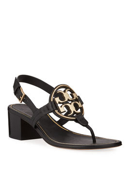 Miller Metal Medallion Sandals by Tory Burch