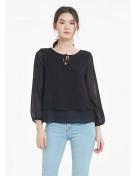 T Shirt Georgette Laconique En Soie by Lily Silk