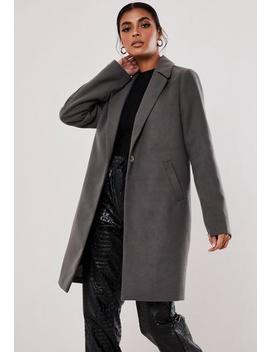 Tall Grey Formal Coat by Missguided