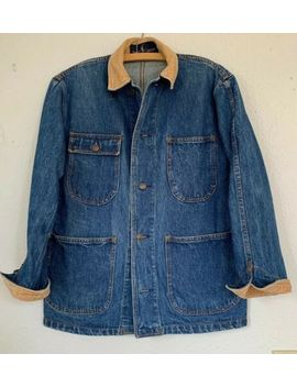 Vintage Ralph Lauren Denim Chore Jacket Size S Work Coat Jean Polo by Ralph Lauren