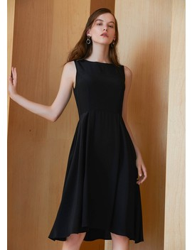 Petite Robe Noire Vintage Col Rond Soie by Lily Silk