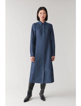 Cotton Silk Shirt Dress by Cos