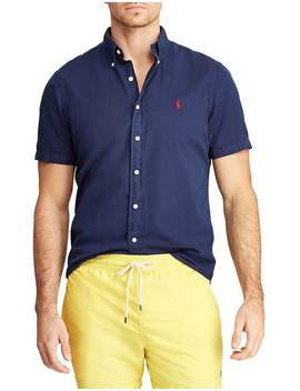 Classic Fit Twill Short Sleeve Shirt by Polo Ralph Lauren