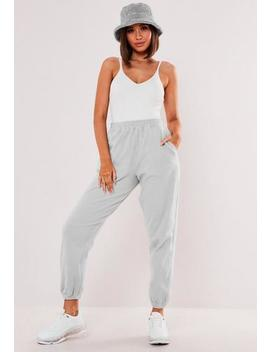 Grey Fleece 90s Joggers by Missguided