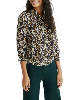 Viola Floral Tie Neck Top by Madewell