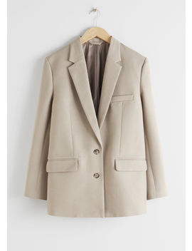 Tailored Single Breasted Cotton Blazer by & Other Stories