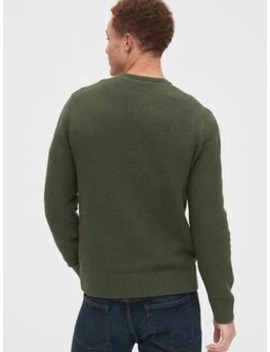 Wool Blend Crewneck Sweater by Gap