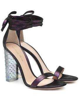 Astra Metallic Suede Sandals by Gianvito Rossi