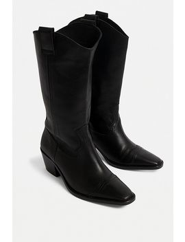 Uo Dakota Square Toe Leather Western Boots by Urban Outfitters