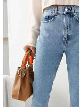 High Rise Acid Wash Jeans by & Other Stories