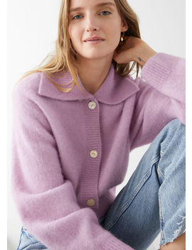 Alpaca Blend Wide Collar Cardigan by & Other Stories