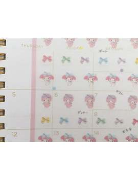 Kawaii Schedule Stickers   My Melody by Etsy