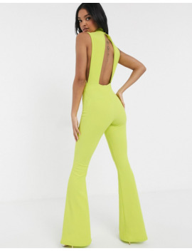 Asos Design Scuba Rib Jersey Jumpsuit With Side Cut Outs by Asos Design