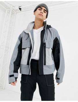 Asos Design Jacket With Multi Pocket In Grey by Asos Design