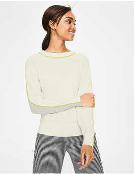 Connie Jumper   Ivory/Grey by Boden
