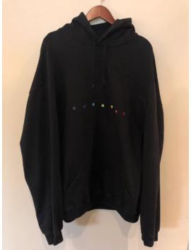 """Vetements Black Logo Hoodie """"Sweater"""" by Vetements  ×"""