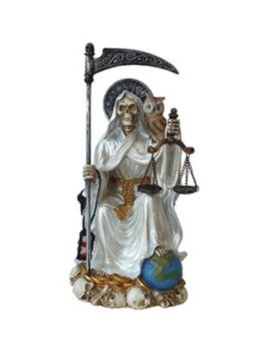 Santa Muerte Saint Of Holy Death Seated Religious Statue 9 Inch Purification by Pacific Giftware