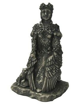 Small Freya Statue   Stone Finish   Dryad Designs   Goddess Norse Wiccan Pagan by Ebay Seller