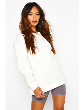 Oversized Sports Fleece Sweater by Boohoo