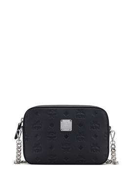 Klara Monogram Embossed Leather Camera Bag by Mcm
