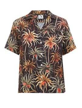 Palm Aloha Printed Short Sleeve Shirt by Endless Joy