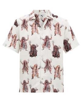 Rangda Printed Short Sleeved Shirt by Endless Joy
