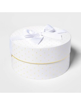 Gold Dots On White Large Round Box   Sugar Paper™ by Sugar Paper
