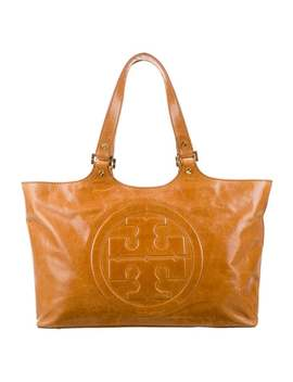 Clayton Classic Burch Leather Tote by Tory Burch