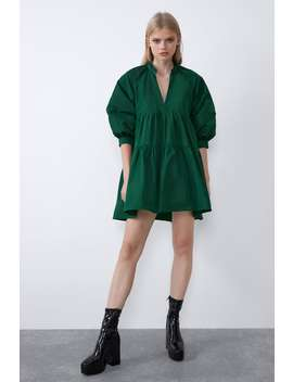 Robe Ample En Taffetas by Zara