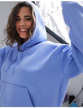 Weekday Alisa Organic Cotton Oversized Hoodie In Sky Blue by Weekday