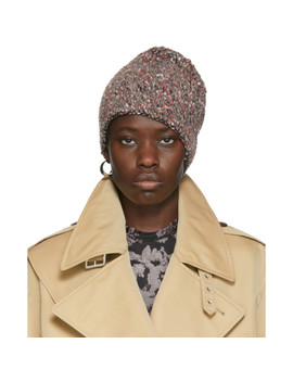Brown & Red Erosion Beanie by Eckhaus Latta