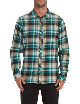 Coastline Plaid Flannel Button Up Shirt by Billabong
