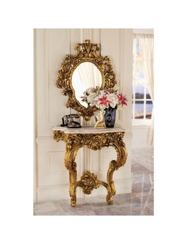 Madame Console Table And Mirror Set (Part Number: Ky924) by Design Toscano