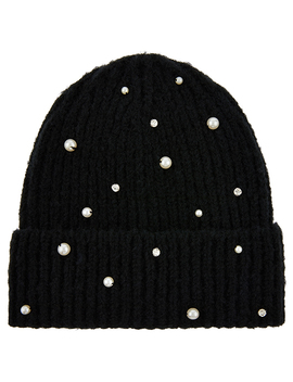 Pearl Turnup Beanie Hat by Accessorize