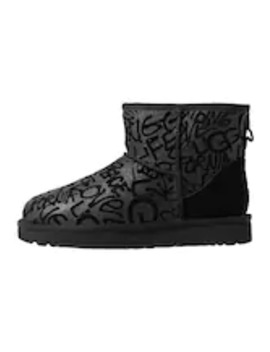 Classic Mini Sparkle Graffiti   Classic Ankle Boots by Ugg