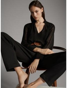 Camisa Plumeti Negra by Massimo Dutti