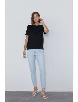 Contrasting Fabric T Shirt by Zara