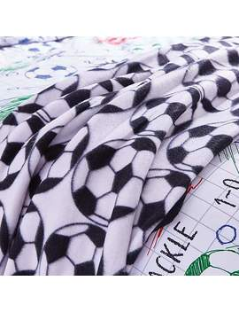 Football Black And White Fleece by Dunelm