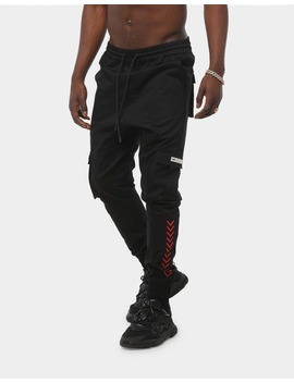Saint Morta Gladiator X Cargo Jogger Black/Red by Saint Morta