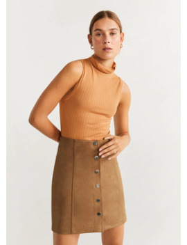 """<Font Style=""""Vertical Align: Inherit;""""><Font Style=""""Vertical Align: Inherit;"""">Mini Skirt With Buttons</Font></Font> by Mango"""